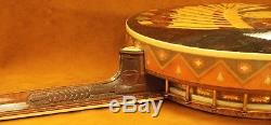 Big Chief Tenor Banjo & original leather case by Ludwig ULTRA-RARE! Indian heads