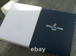 Breitling box Blue color full set including leather travel case Original