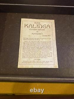 Buck Kalinga 401 Fixed Blade with leather sheath in presentation case USA