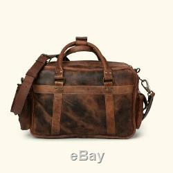 Buffalo Leather Bag Pilot Briefcase Case Messenger Business Flight Travel Laptop