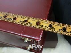 CARTIER Paris Doctor Pilot Lawyer Bordeaux Leather Hard Case Briefcase Bag Mens