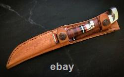 CASE XX 00372 Twin Finn Fixed Blade 2KnifeSet PolishedLeatherHandle & Sheath NIB