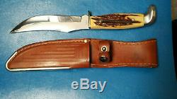 CASE XX 523-5 1965 STAG knife with leather sheath