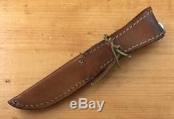 CASE XX 65-69 Razor Edge 5 FINN SSP Stag Handle Fixed Blade Knife Leather Sheath
