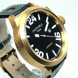 CHOTOVELLI, 7900-5, PILOT WATCH, 52mm, AUTOMATIC, GOLD CASE, FREE EXTRA STRAP