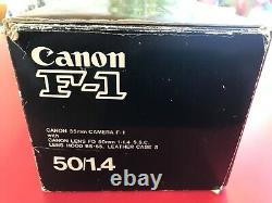 Canon F1 35mm Camera Canon F-1 with L-Coupler, leather case, original packaging