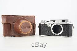 Canon IV SB 35mm Film RF Rangefinder Camera Body with Original Leather Case V03