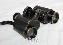 Carl Zeiss Jena Marineglas X6 Binoculars + Original Leather Case No 521696