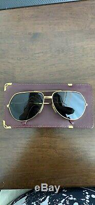Cartier Gold Must de Vendome Trinity Vintage Sunglasses with a Leather Case