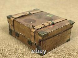 Cartier Leather Cartridge Shotgun Shell Case Vintage Trap Shoot Hunting Luggage