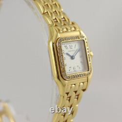 Cartier Panthère Ladies, 18K Yellow Gold, Diamond Bezel, Original, 22mm case