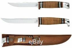 Case 00372 Two-Knife Leather Hunter Set Brown Sm & Lg Knife Set