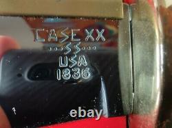 Case 345637 Vintage XX Bowie Survival/Hunter Knife 1836 Leather and Scabbard Box