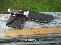 Case USA Tested XX 1935 Combo Set Axe & Knife with Leather Sheath Wood Scales