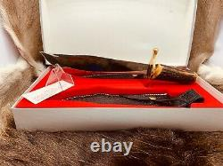 Case XX 100th Anniversary Stag Big Bowie Knife Leather Sheath Mint In Box