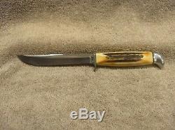 Case XX Razor Edge 516-5 Ssp, Stag Handle -fixed Blade Knife, Leather Sheath
