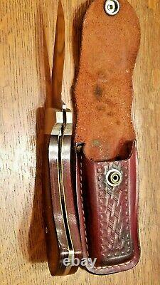 Case XX Sidewinder Knife 8 dot SS 1982 with Original Leather Sheath Made In USA