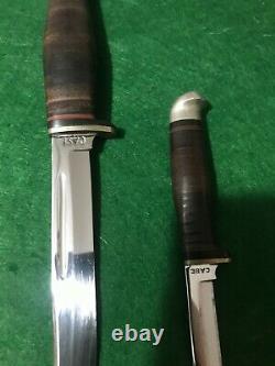 Case XX Vintage Twin FINN KNIFE SET CIRCA 1940/1965 GREAT CONDITION