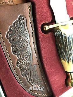 Case Xx, 00356 Kodiak Hunter Genuine Stag Fixed Blade Knife & Leather Sheath