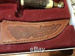 Case Xx, 00356 Kodiak Hunter Genuine Stag Fixed Blade Knife & Leather Sheath 1998