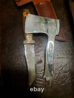 Case's Tested XX Axe Knife Combo Set Stag With Leather Sheath