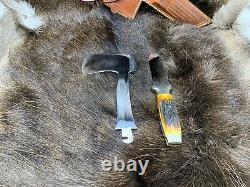 Case's Tested XX Axe Knife Combo Set Stag With Leather Sheath Mint Pumpkin Box A