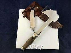 Case's Tested XX Axe & Knife Combo Set With Leather Sheath Patented 1935 Rare