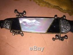 Case xx custom sunfish elephant toe knife 6270leather sheath 1998 MOP limited