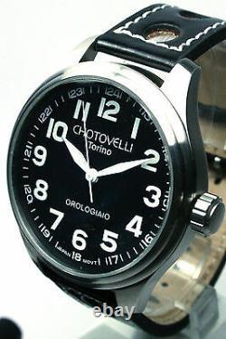 Chotovelli, 19-8, Pilot Watch, 47mm Case, Stainless Steel, Quartz, Luminous