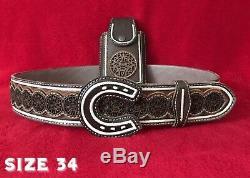 Cinturón Charro Pita Original Cincelado Cell Phone Case Pouch Sleeve Leather