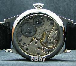 DOXA Antique WW2 Era Big Pilot's Wristwatch Stainless Steel Case Exhibition Back
