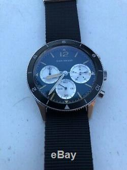 Dan Henry 1963 Pilot Chronograph Watch (case Included W Travel Roll)