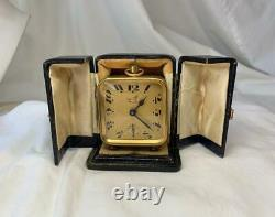 Duverdrey & Bloquel French Carriage Clock Original Leather Case 1892 Working