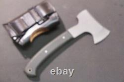 Early Greco Mini Hikers Camping Hatchet Hunting Knife with Leather Case # 1