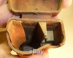 Early Original Wwii Japanese Leather Sniper Rifle Scope Case