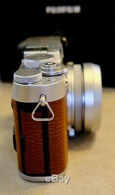 FUJI X-100F Brown Digital Camera Leather Case, Original Packaging, Barely Used
