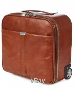 Ferrari Tan Leather Elite Pilot Trolley Cabin Case Holdall Bag RRP £1,220 BNWT