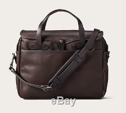 Filson Weatherproof Leather Original Briefcase Sierra Brown