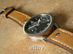 Fine Hanhart Monopusher Pilot Chronogr. Mov. Cal. 40/50 (1948/9) Custom Made Case