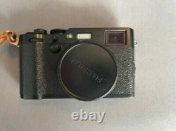 Fuji x100f Black, with EF-X20 flash, Leather Case. Original box