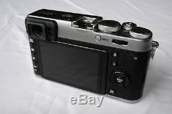 Fujifilm X100T Camera Silver, shutter count 2,200, Original Box, Leather Case