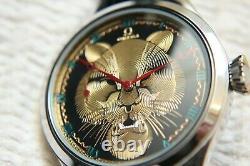 GOLDEN TIGER Vintage 1934`s Original Swiss movement 14K Dial New Cased Watch