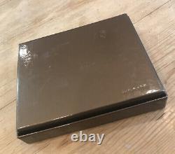 GUCCI Dark Brown Leather Card Case/Money Clip GG logo (newithoriginal box/wrap)