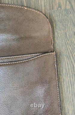 GUCCI Leather Document Case Portfolio Brown Vintage Laptop CAse