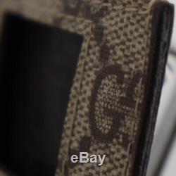 GUCCI Original GG Canvas Web Stripe ipod Case Brown Italy Authentic #U752 W