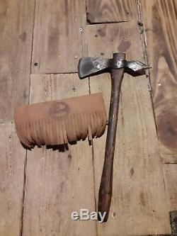 Genuine Norlund Frontiersmen Tomahawk in original leather case