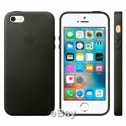 Genuine Original Apple iPhone SE / 5 / 5S Leather Case Black (MMHH2ZM/A) New