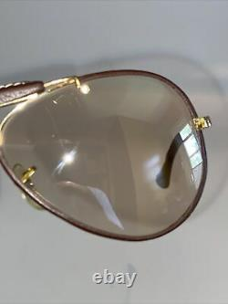 Genuine Vintage Ray Ban Bausch & Lomb USA Leathers photochromic 58 mm Case B&L