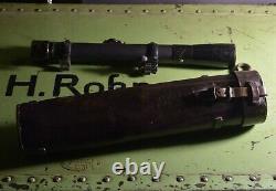 German Army Wehrmacht WW2 WWll Vintage Sniper Scope Leather Case