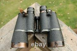German Ww 2 10 X 50 Binoculars And German Military Leather Case Marked Clean